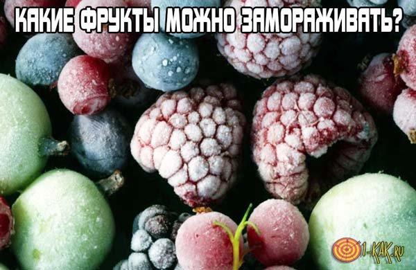 Какие фрукты и ягоды можно замораживать?