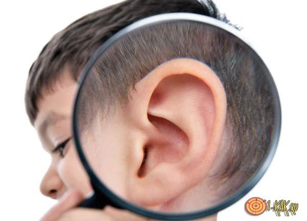 Чистое ли ухо у мальчика