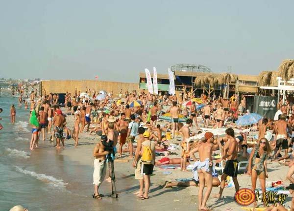 Пляжные развлечения на полуострове