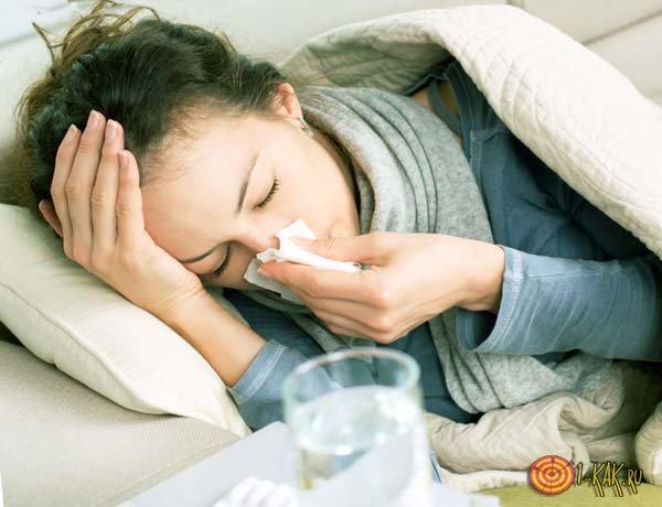 Температура у девушки - признак свиного гриппа