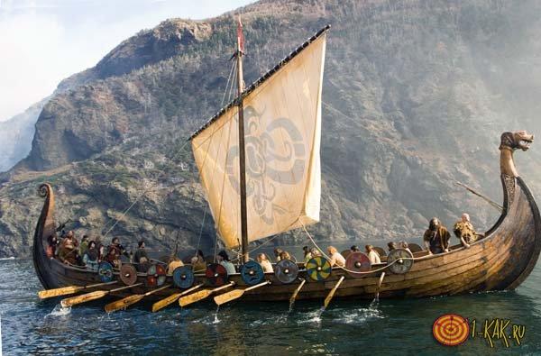 Викинги появились на корабле