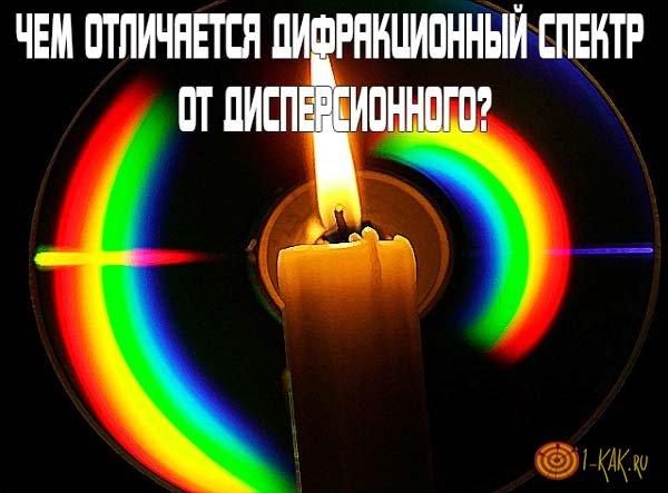 В чем отличие дифракционного спектра от дисперсионного?
