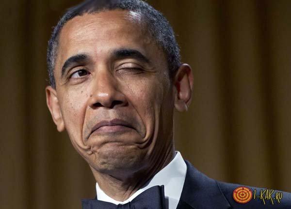 Обама дергает своим глазом