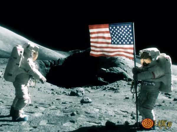 Американцы высадились на Луну