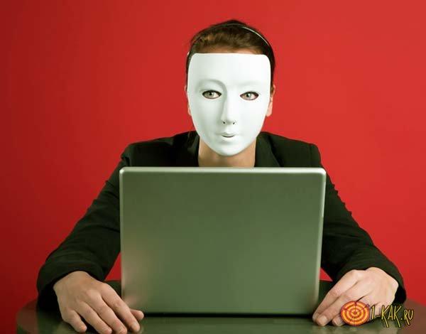 Аноним за компьютером