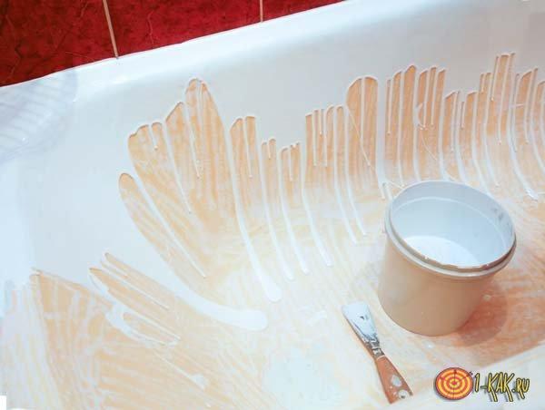Реставрируют чугунную ванну