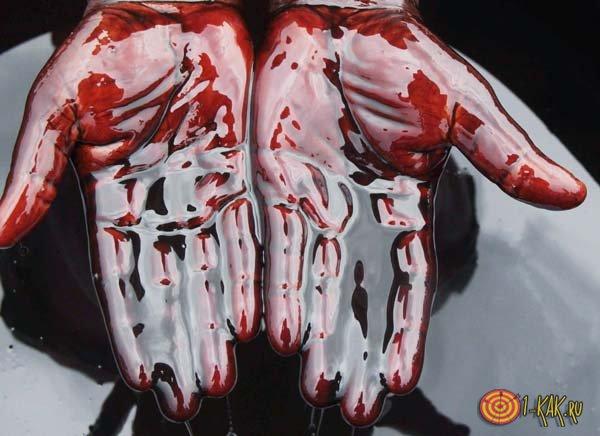 Руки в нефти