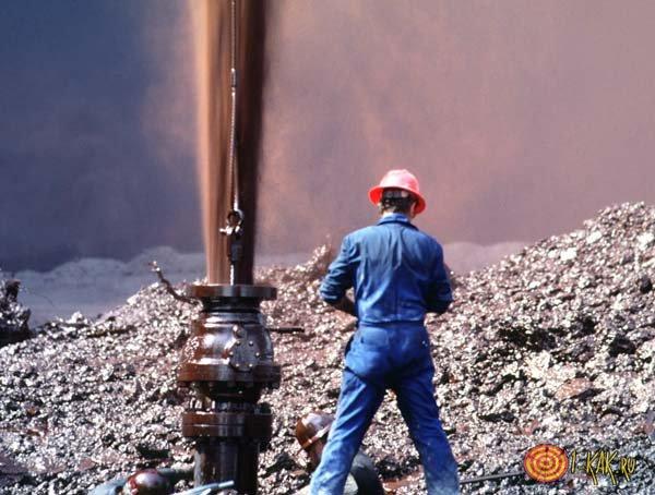 Нефтяной работник на скажине