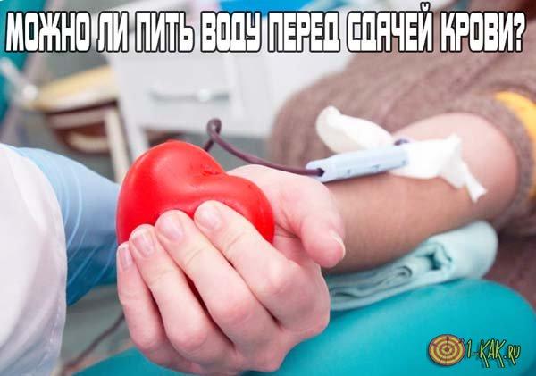 Можно ли выпить воды перед сдачей крови?