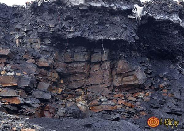Месторождение угля на Донбассе