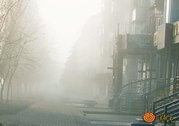 Туманная улица Лондона