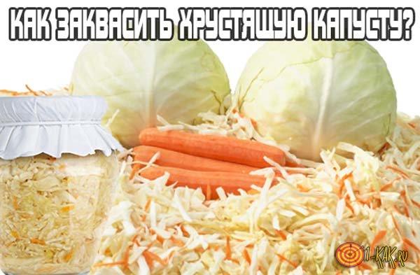 Как заквасить хрустящую капусту?