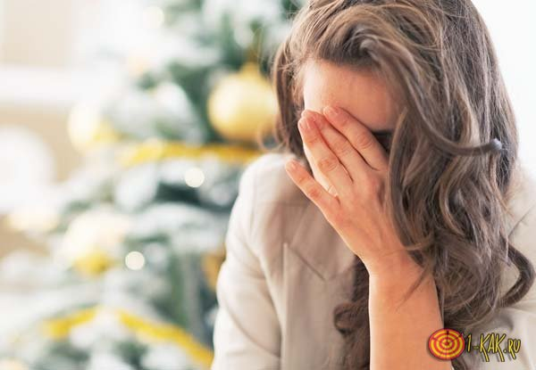 У девушки депрессия и уныние