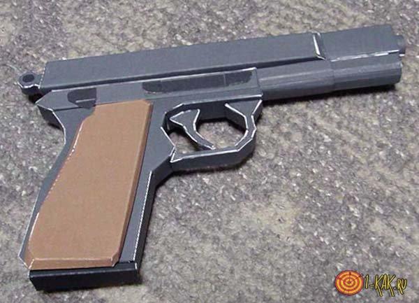 Картонный муляж пистолета ТТ