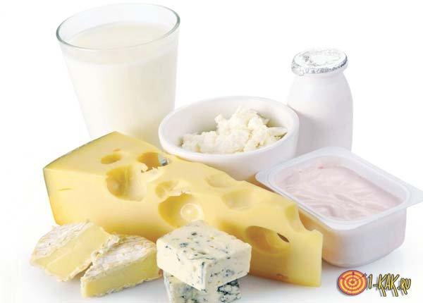 Молочные продукты с содержанием заменителя