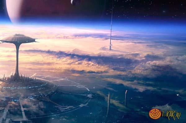 Вид утопии из космоса