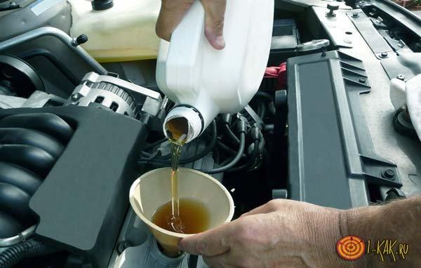 Промывка и заливание двигателя