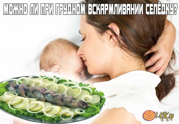 Можно ли кормящей матери есть селёдку?