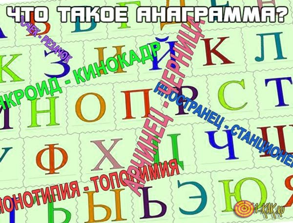Что означает анаграмма?