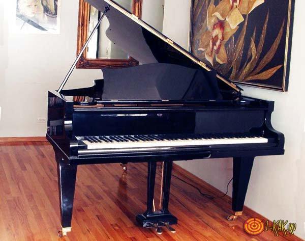 Ножная педаль на фортепиано