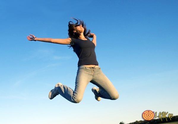 Девушка-прыгунья