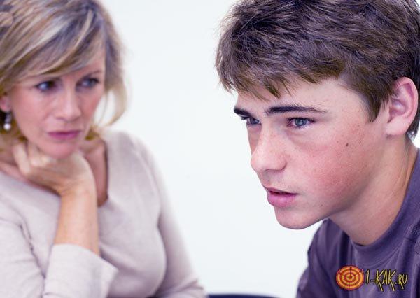 Хамство подростка - довел мать
