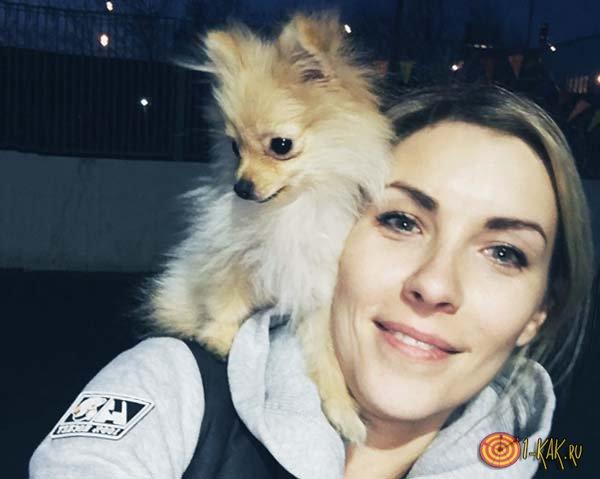 Алена и ее собачка