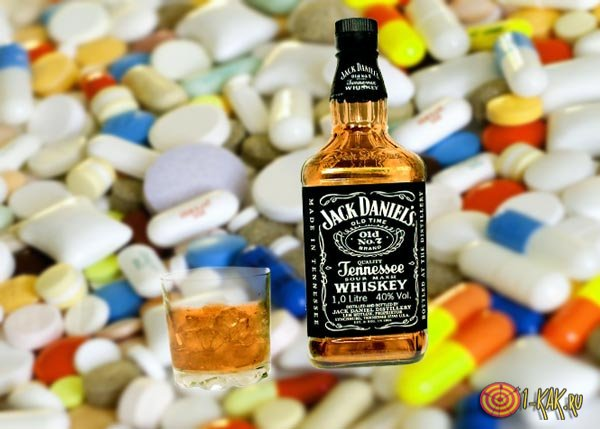 Алкоголь и лекарства: виски и левомецитин