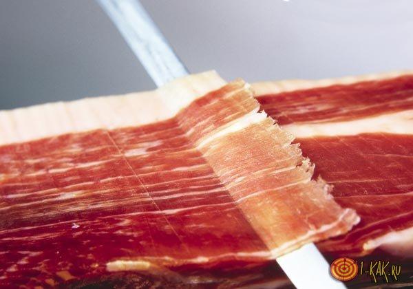 Вяленое мясо - нарезка