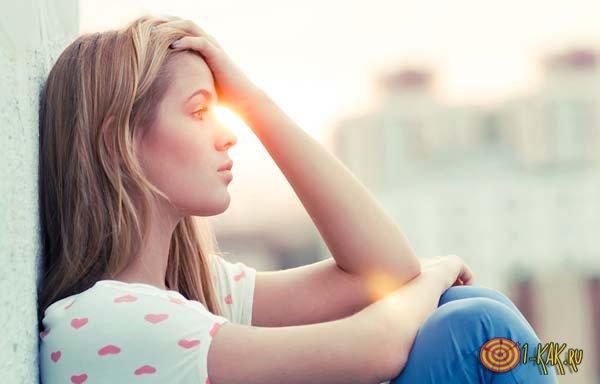 Девушка погрузилась в депрессию и уныние