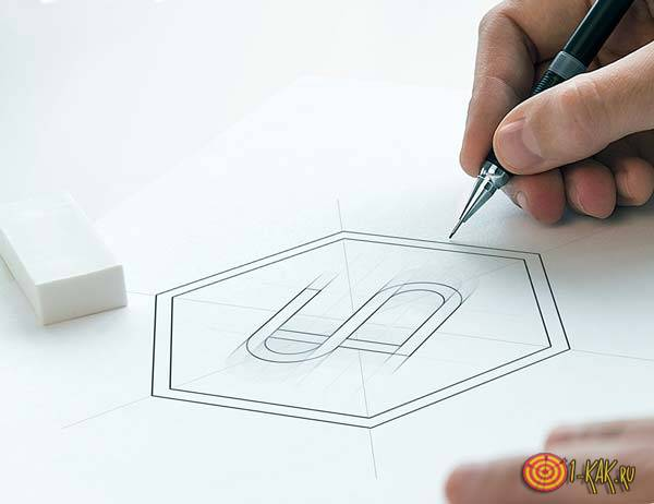 Рисует логотип для патента