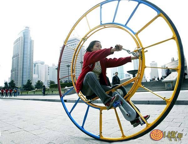 Изобретение: колесо-велосипед
