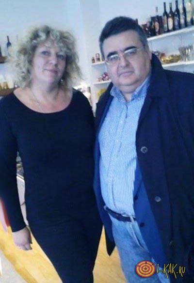 Митрофанов с женой в Хорватии