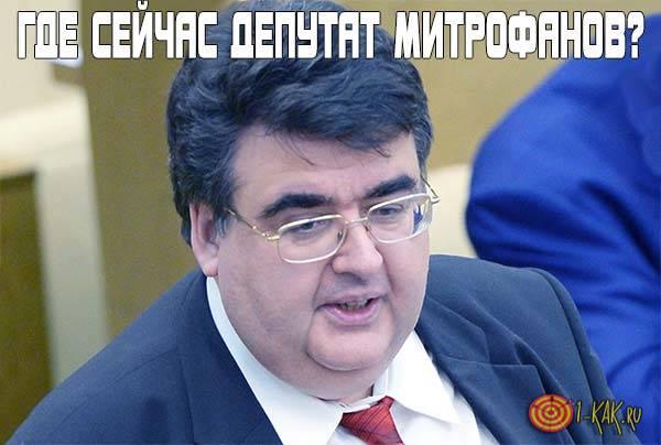 Куда делся депутат Митрофанов?