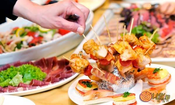 Красивые ресторанные блюда- фуршет