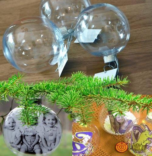 Стеклянные шарики с фото внутри