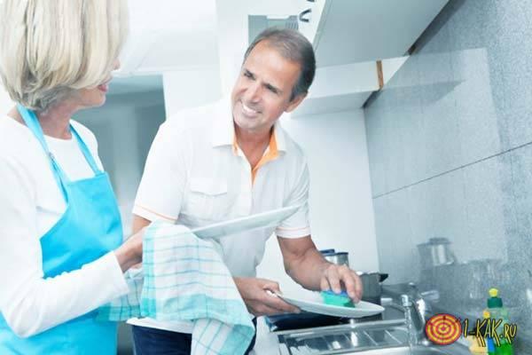Переживания супругов - посуда