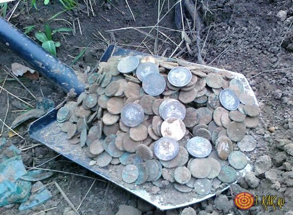 Нашел золотые монеты