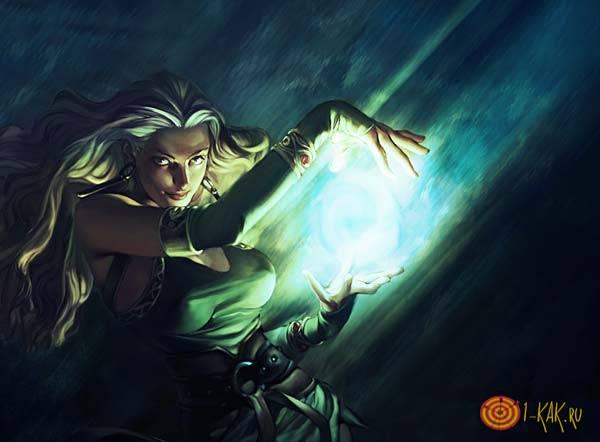 Ведьма накладывает проклятие