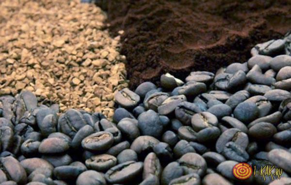 Натуральный кофе входит в состав