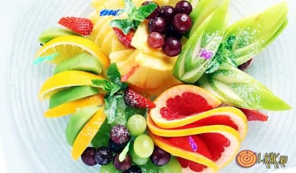 Закуска из фруктов для рома