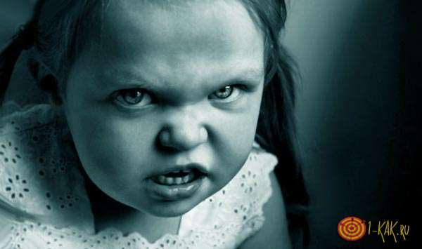 Негативные эмоции девочки