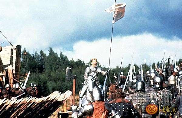 Жанна д'Арк на поле сражений
