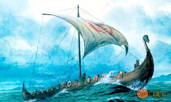 Викинги плывут на бой