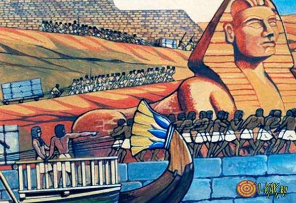 Древние египтяне строят суда