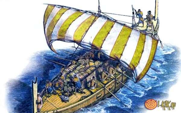 Финикийцы на корабле