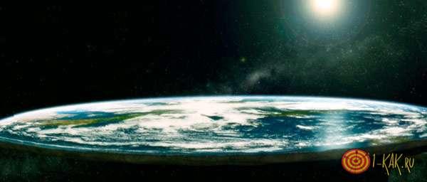 Плоский блин земли