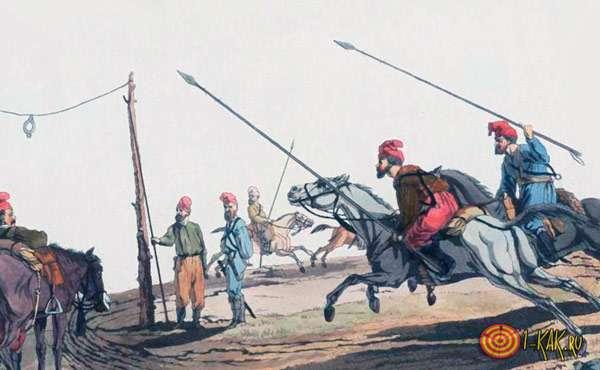 Тренировка боя на лошадях