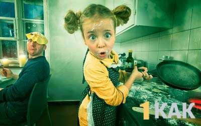 Почти научилась готовить блины